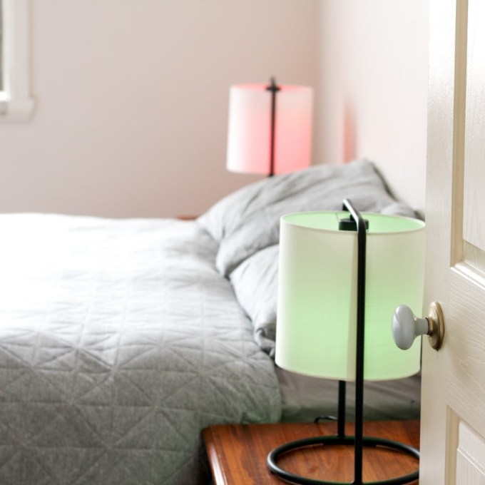 Green and Pink Bed Lamp
