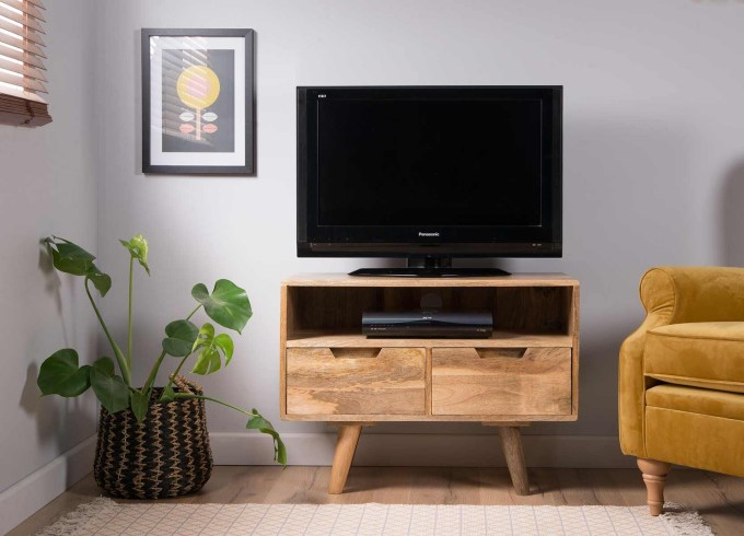 Small TV Stand with Drawers