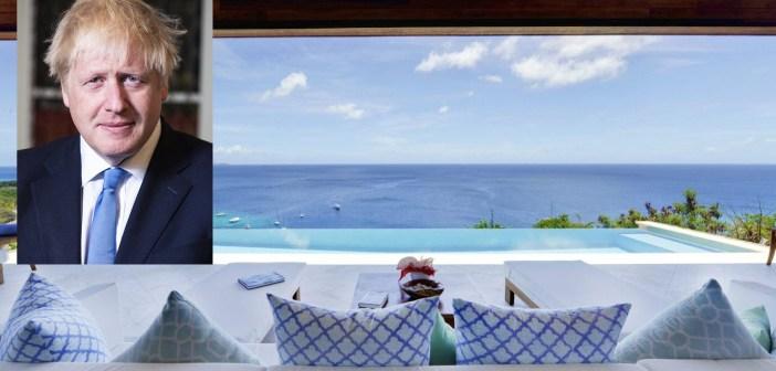 Zie hoe BORIS JOHNSON en 24 jaar jongere vriendin CARRY SYMONDS vieren vakantie in €22000 per week kostende villa op Mustique