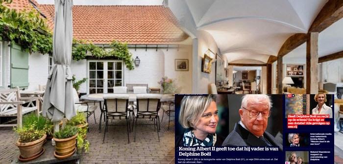 BINNENKIJKEN in het 4.650.000 euro kostende liefdesnestje van KONING ALBERT en zijn minnares, BARONES SYBILLE die nu door hem eindelijk erkende dochter DELPHINE baarde