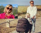 FOTO'S: Maxime Meiland weer aan de wijn; papa Leroy wandelt met baby Vivé en kleine Claire