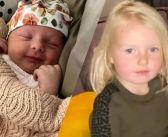 FOTO'S: Baby Vivé lijkt als twee druppels water op Maxime Meilands dochtertje Claire