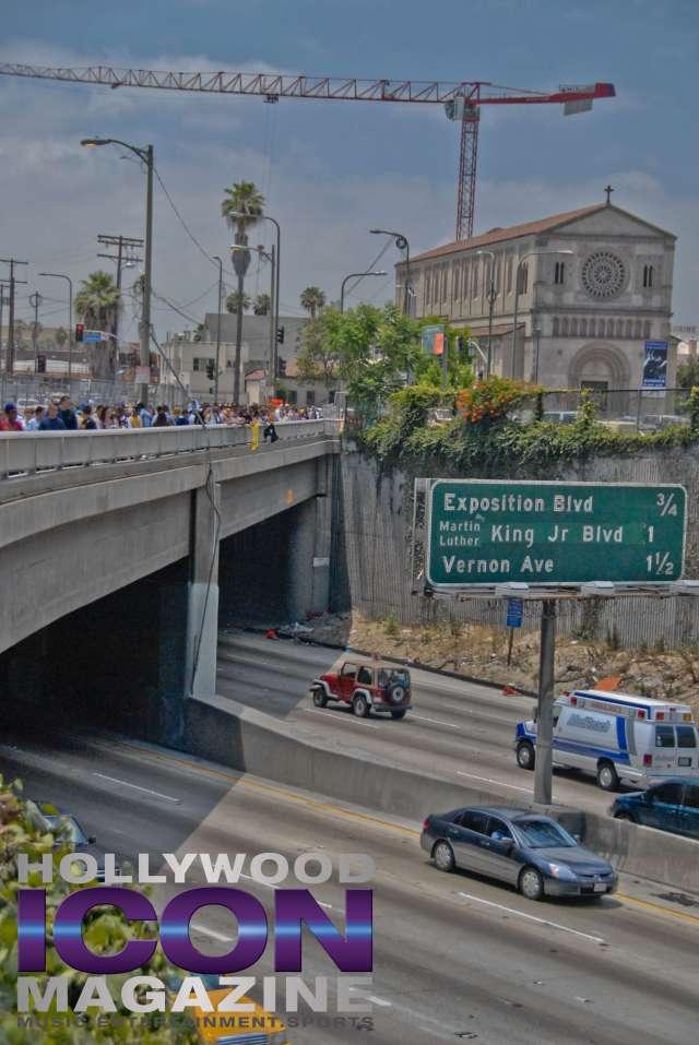 LA Lakers Championship Parade By JB Brookman-46 Freeway