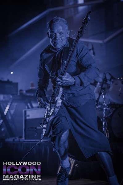 Flea from Atoms For Peace rock the Santa Barbara Bowl.  Photo: JB Brookman