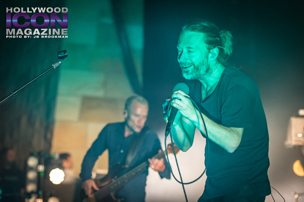 Thom Yorke and Flea from Atoms For Peace rock the Santa Barbara Bowl.  Photo: JB Brookman