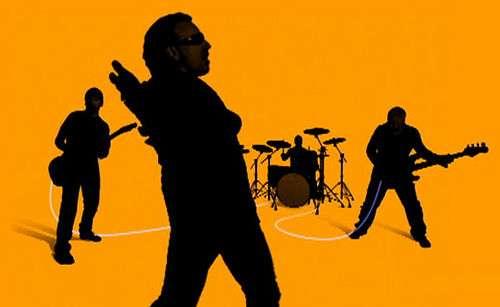 U2 playing Apple event.
