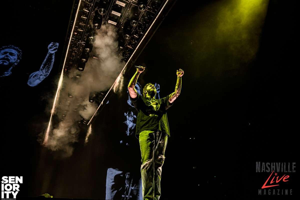 Post Malone in Nashville at Bridgestone Arena by JB Brookman Photography Seniority Nashville Live Magazine