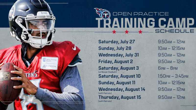 NFL: Titans To Open Training Camp This Week