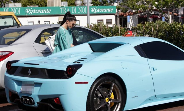 Kylie Jenner with her Ferrari Kylie Jenner out and about, Malibu, Los Angeles, America - 27 May 2016 Kylie Jenner goes shopping at Planet Blue in Malibu