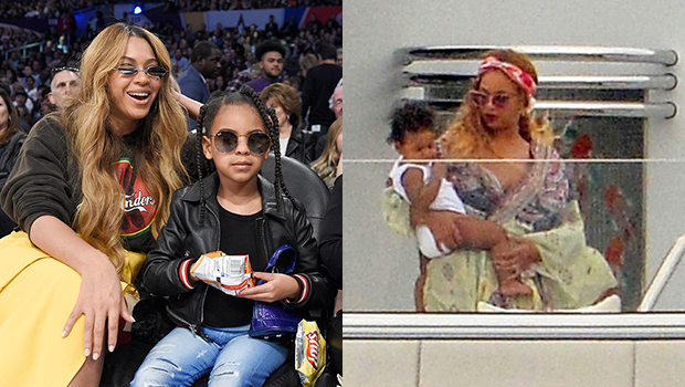 photos of blue ivy twins rumi sir