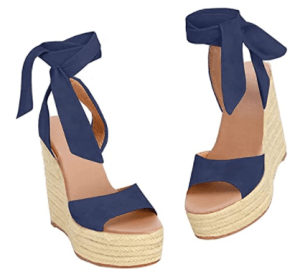 Navy espadrille sandals