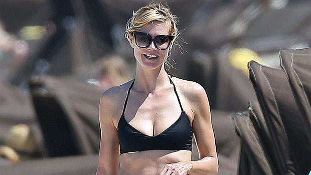 Heidi Klum, 47, Wears Just Bikini Bottoms As She Covers Herself While Going For A Dip In Sexy TikTok