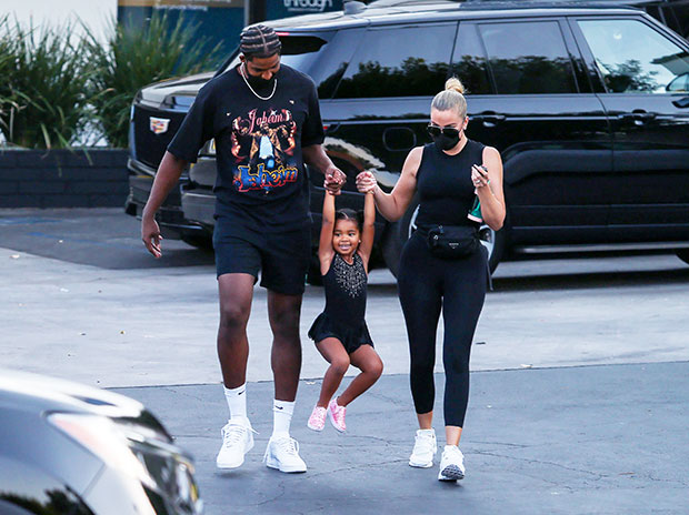 Tristan Thompson & Khloe Kardashian with daughter True