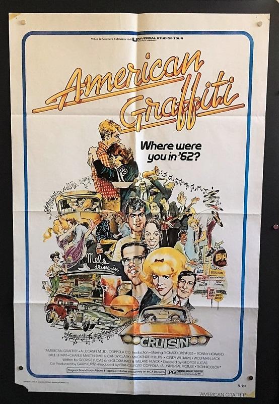 american graffiti 1973 original one sheet movie poster