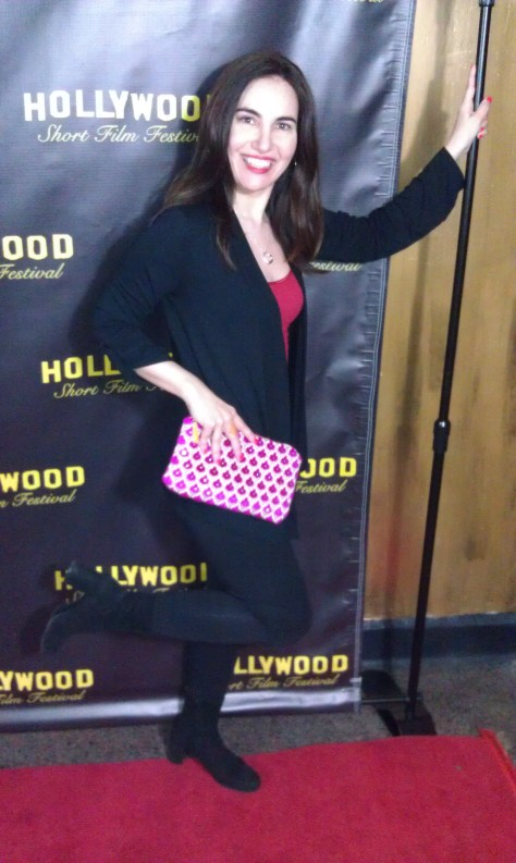 Kicking up my Chanel heels to celebrate Domnic's win with my beautiful Kathy Fielder clutch in tow. Photo courtesy of HPC.