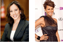 From left to right: Attorney General Kamala Harris and actress Nicole Ari Parker