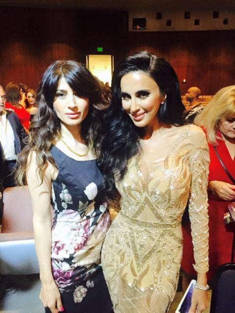Badri with Lily Ghalichi of the Shahs of Sunset at the pageant