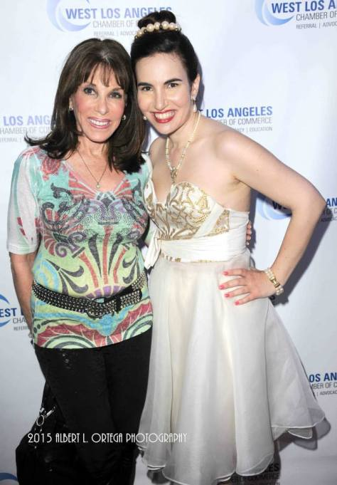 Vida with Young and the Restless star Kate Linder. Photo courtesy of Albert L. Ortega/GettyImages