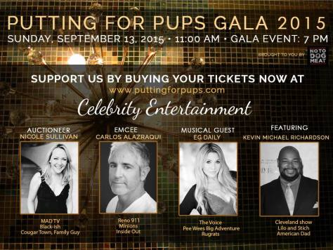 Putting For Pups Gala flyer