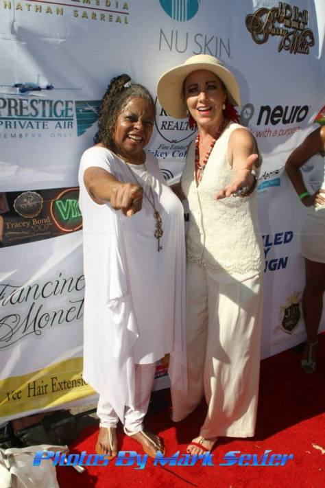 Actress Reatha Grey with publicist Denise O'Brien