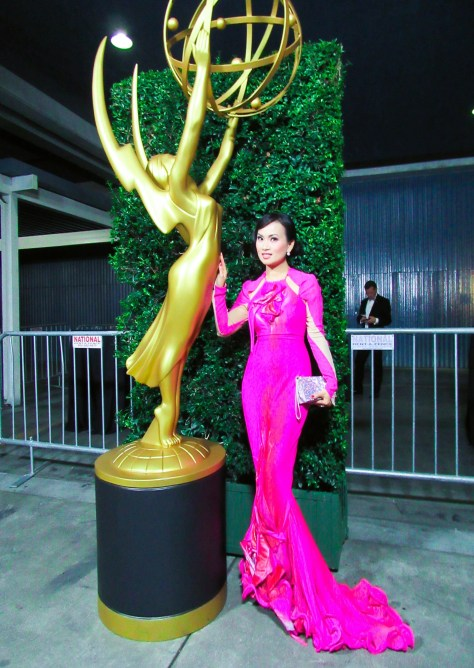 Ha Phuong looking stunning on the red carpet. Photo courtesy Winston Burris