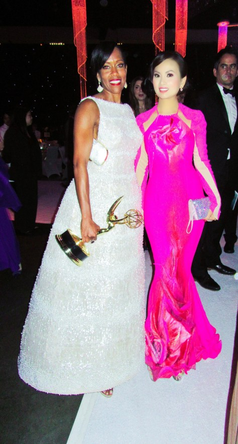 Ha Phuong with Emmy winner Regina King. Photo courtesy Winston Burris