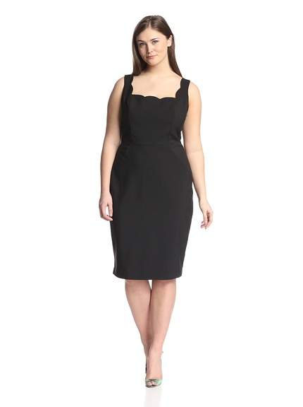 Vavoom! Sexy LBD with a beautiful scalloped neckline