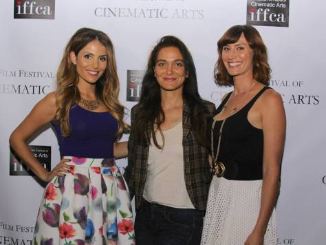 Host Violet Kanian, entertainment attorney Nadia Davari and host Mia Eden
