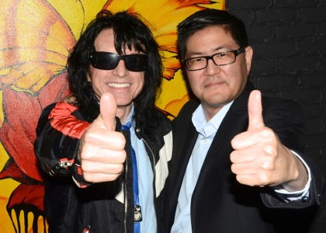Actor Tommy Wiseau and writer-director-producer Gregory Hatanaka give their thumbs up. Photo courtesy of Billy Bennight/PR Photos