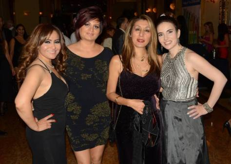 Designer Luz Correa, Honorees Alice Atakhanian, founder and CEO of Beyond Beauty Parlor and AML Academy and Ghaffari and Maryam Morrison, the Editor-in-Chief of The Eden Magazine