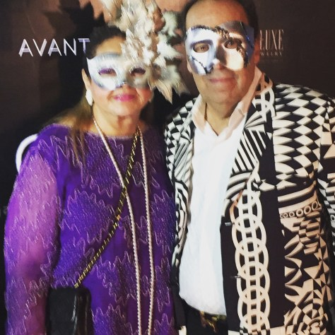 Faith and Murray at the Avant Garde Masquerade Ball