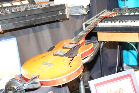 Some of the musical equipment from the Johnny Guitar Watson Estate were on display at the JGW Tribute