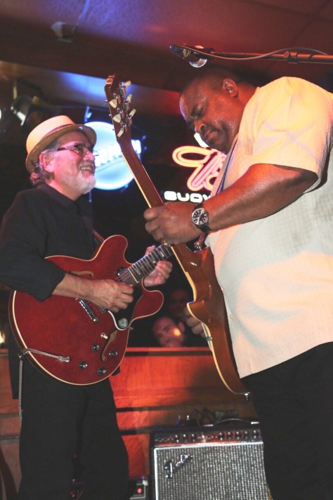 Larry McCray and Joey Delgado on dueling guitars