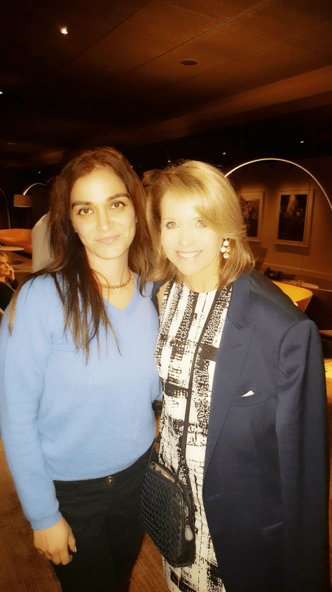 Nadia with anchorwoman Katie Couric at an event