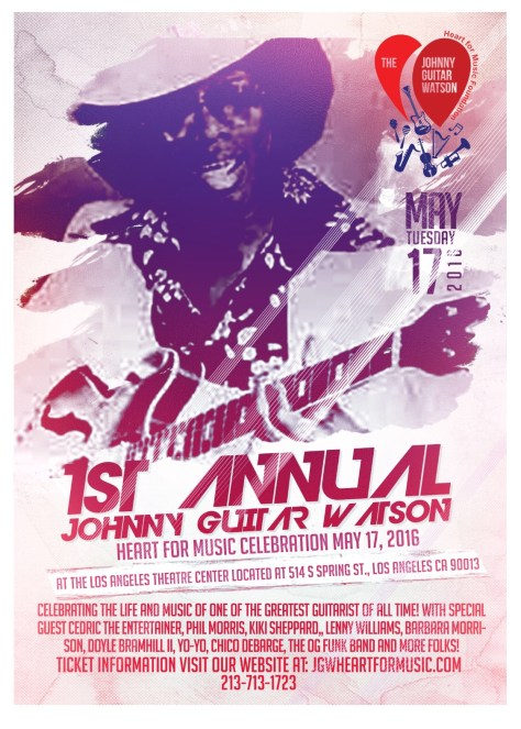 The first annual Johnny Guitar Watson Heart for Music Foundation Tribute