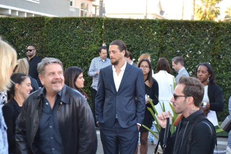 Outside the screening