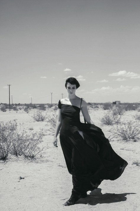 Julia Marie strikes a pose in the high desert of Southern California