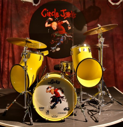 Lucky's iconic drum set from the Circle Jerks