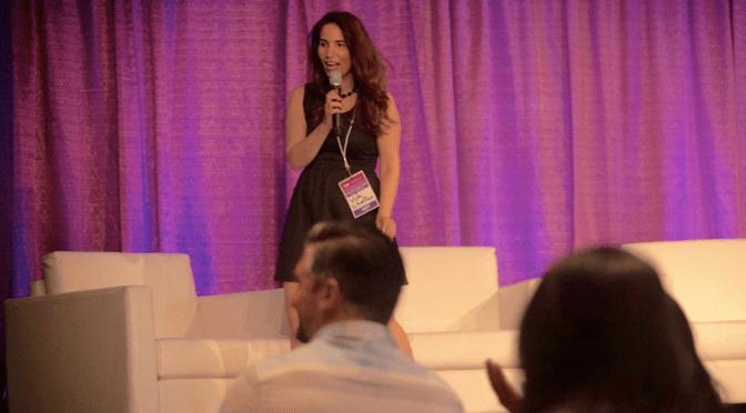 Actress and Blogger Vida Ghaffari MC'ed the Noted Wonder Women Tech Conference