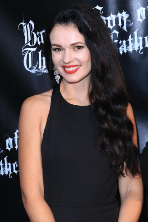 Actress Natasha Blasick on the red carpet