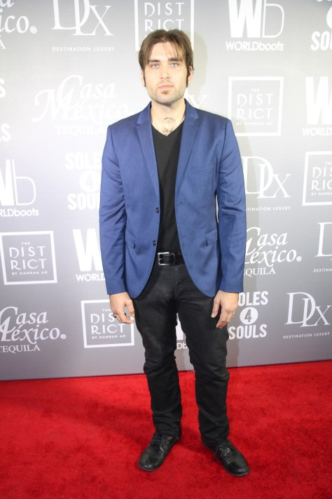 Actor and musician, Weston Cage, on the red carpet at the WORLDboots launch
