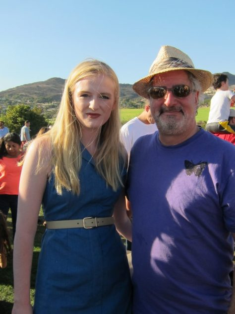 Actress and environmentalist, Hayden Begley with producer and Emily's father, Michel Shane