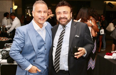 Bespoke founder, Art Lewin, with partner Danny Simons at the Art Lewin Bespoke launch in Santa Monica. Photo by SmuMug