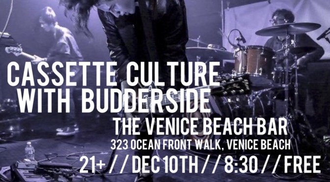 BUDDERSIDE AND CASSETTE CULTURE HELP CHRISTEN NEW VENICE BEACH-SIDE MUSIC VENUE