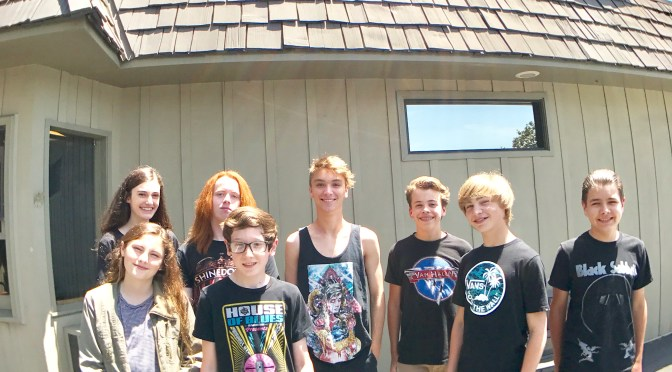 Los Rios Rock School Kids record Van Halen 1 Live in One Day at Sunset Sound