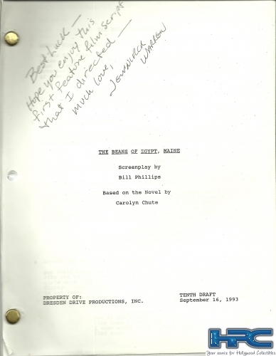 BEANS OF EGYPT: Maine Original Script