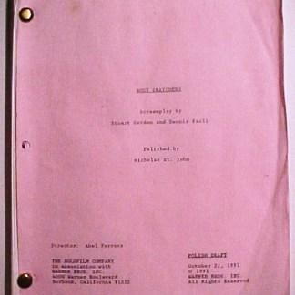 BODY SNATCHERS: Movie Script