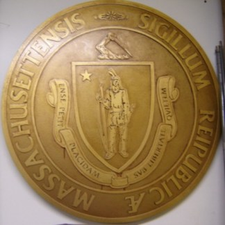 EULOGY: Massachusetts Courthouse Gold Seal Sign