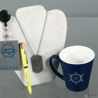 ZOOM: Zenith Coffee Mug, Name Badge, Dog Tag & Pen