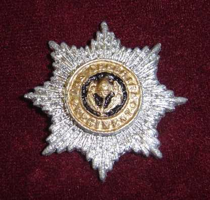 ULTRAVIOLET: Silver Star Badge With Gold Center